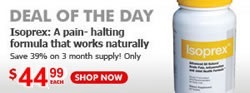 Deal of the Day -- Isoprex: A pain-halting formula that works naturally